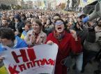 """Protesty w Kijowie. Powodem """"kapitulacja"""" w sprawie Donbasu"""