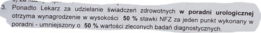 Screen umowy. Fot. Lekarz Bartosz Fiałek