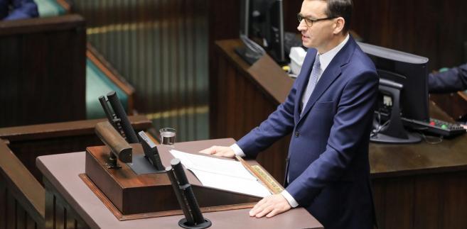 Sejm wznowił posiedzenie. Premier Morawiecki wygłasza expose