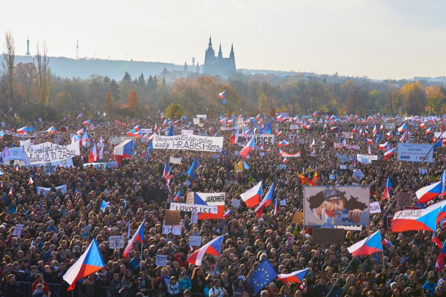 Park Letná, protesty