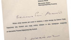 Rezygnacja, której nie przyjęła marszałek Sejmu