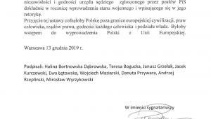 Oświadczenie Komitetu Helsińskiego