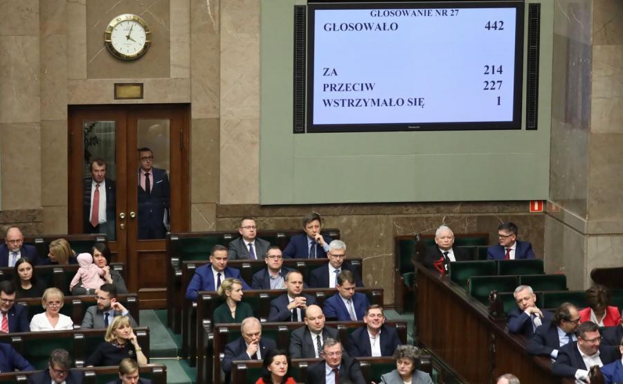 Posiedzenie Sejmu głosowanie