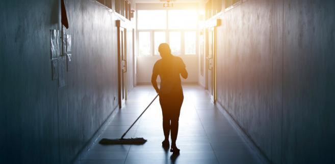 sprzątaczka, kobieta, praca