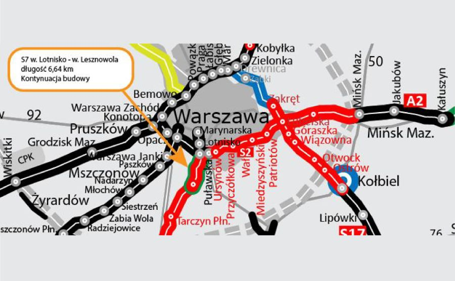S7 - odcinek w. Lotnisko - w. Lesznowola (Ministerstwo Infrastruktury)