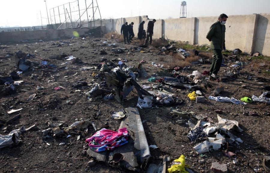 Szczątki ukraińskiego samolotu