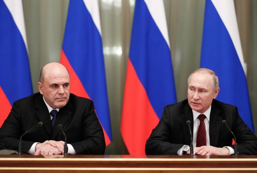 Rosja. Putin Mishustin. Nowy rząd