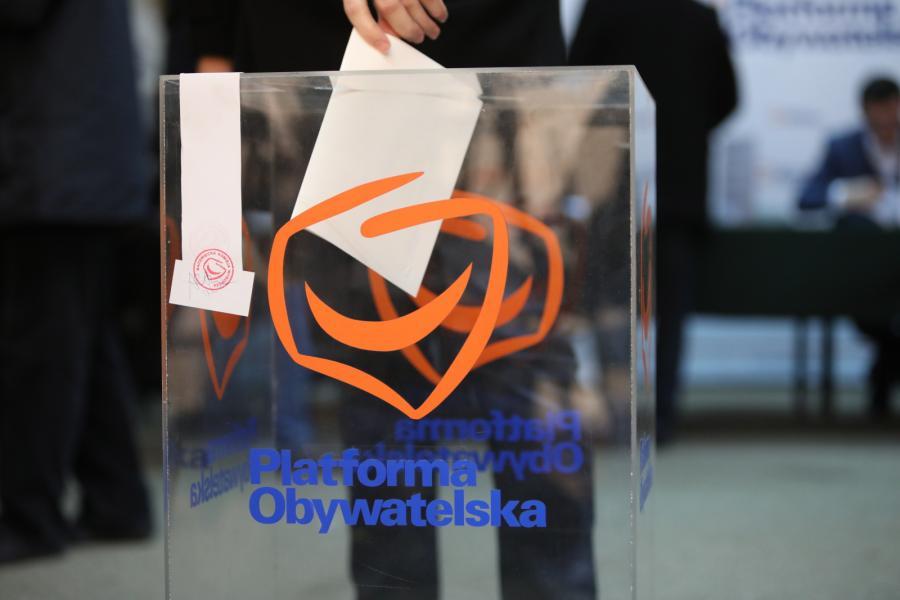 Głosowanie w wyborach na przewodniczącego Platformy Obywatelskiej