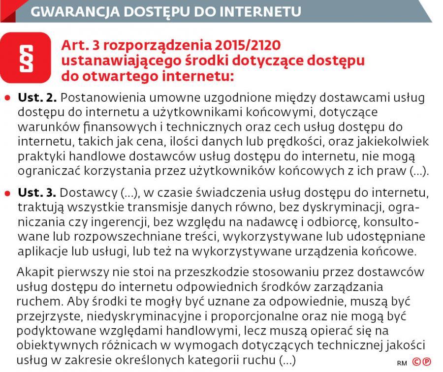 Gwarancja dostępu do internetu