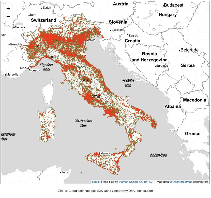 Włochy - mapa 1