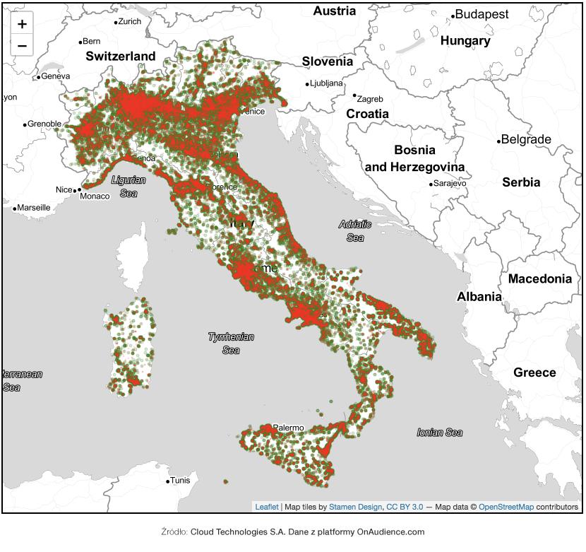 Włochy - mapa 2