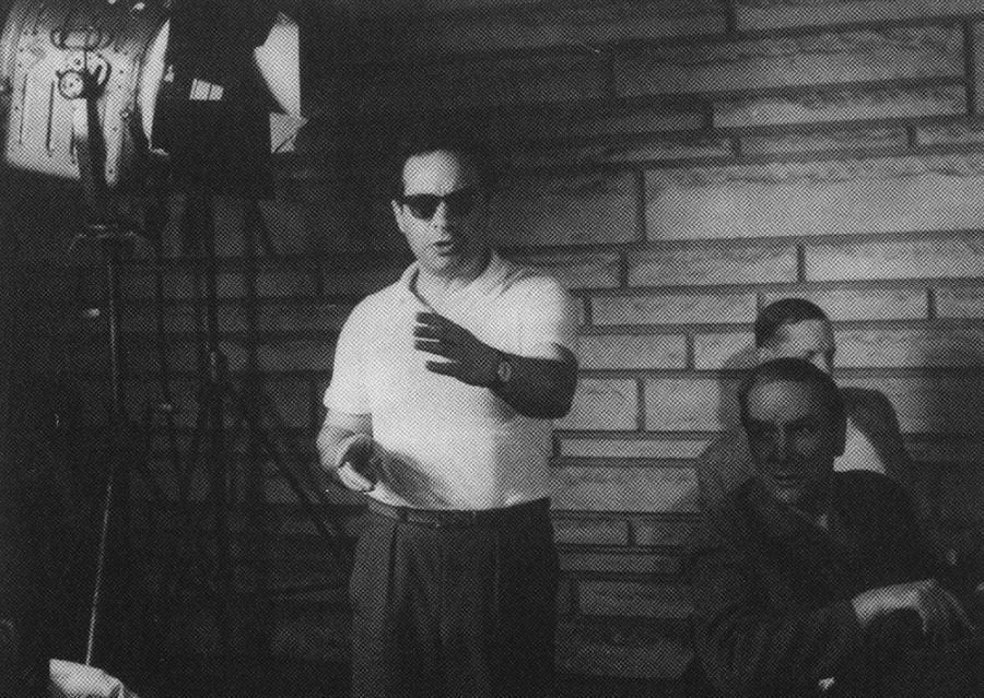 """Józef Hen reżyseruje film """"Perły i dukaty"""", 1965, fot. ze zbiorów prywatnych Józefa Hena"""