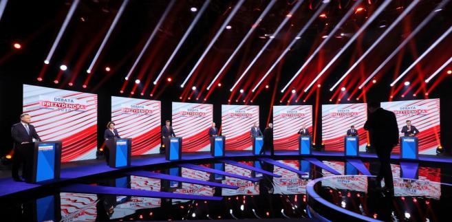 Uczestnicy debaty  prezydenckiej w TVP