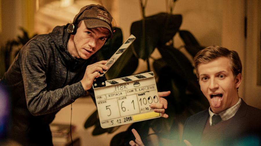 Jan Komasa na planie filmu \