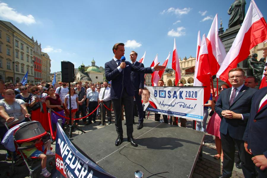 Krzysztof Bosak w Krakowie. Kampania wyborcza