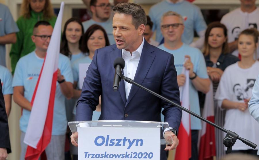 Rafał Trzaskowski olsztyn