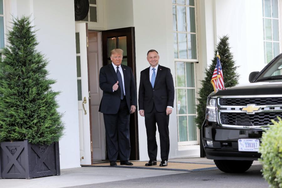 Prezydent Andrzej Duda oraz prezydent Stanów Zjednoczonych Donald Trump