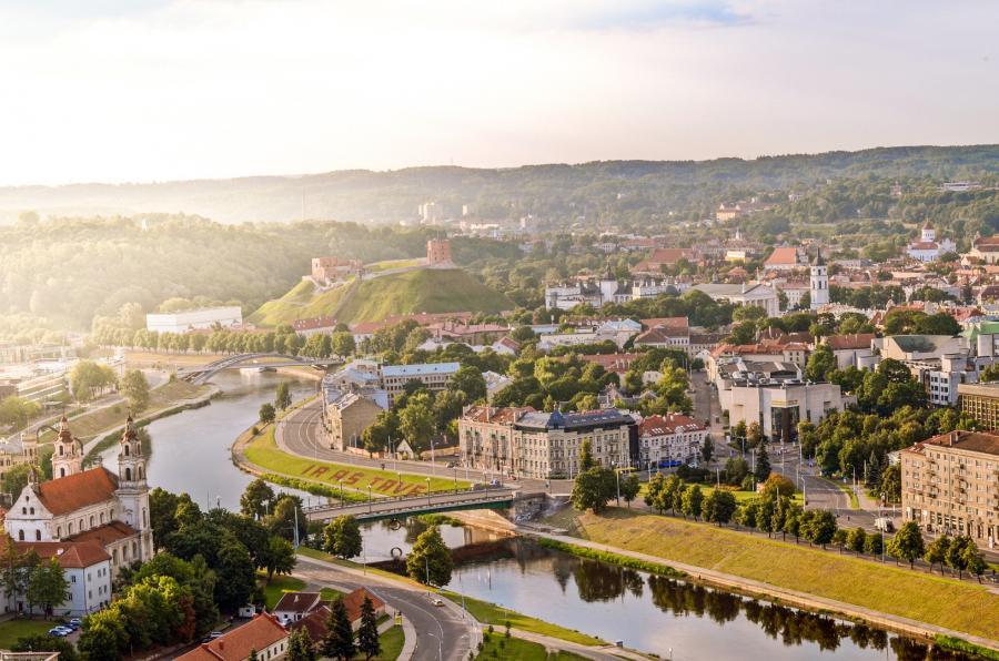 Widok na Stare Miasto w Wilnie