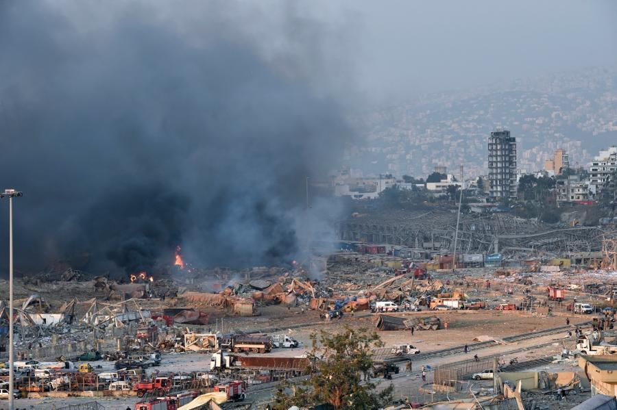 Zniszczenia w Bejrucie