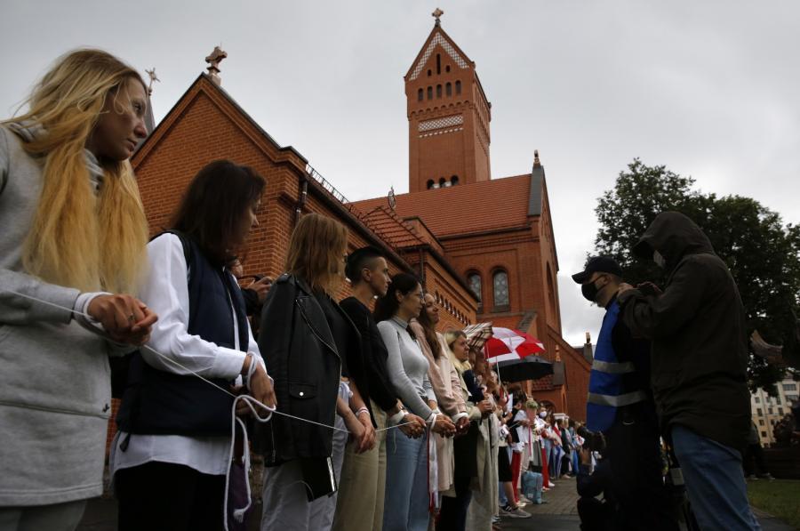 Białoruś, protest w Mińsku