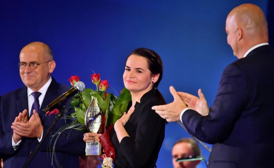 Swiatłana Cichanouska na Forum Ekonomicznym w Karpaczu