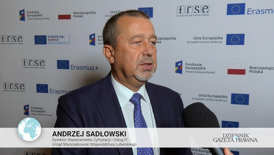 Andrzej Sadłowski, Dyrektor Departamentu Cyfryzacji i Usług IT, Urząd Marszałkowski Województwa Lubelskiego