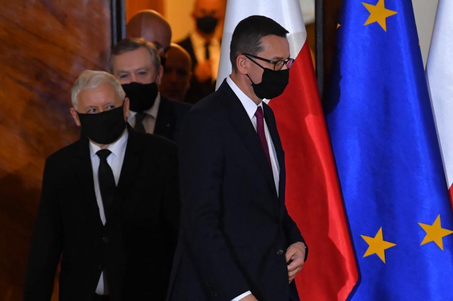 Mateusz Morawiecki, Jarosław Kaczyński, Piotr Gliński