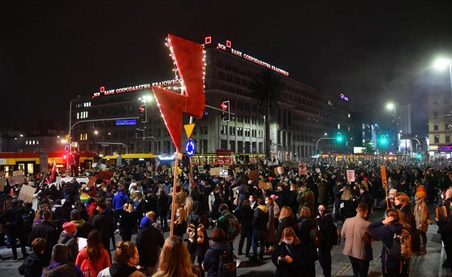 Protest w centrum stolicy