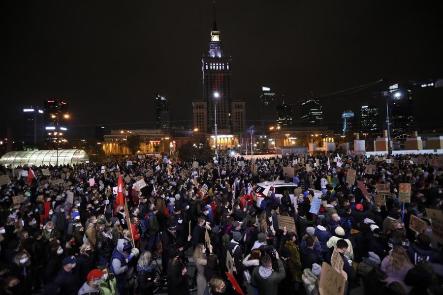 Uczestnicy protestu pod hasłem \