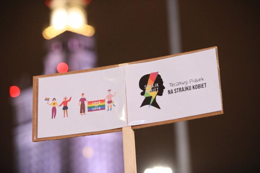 Strajk kobiet. Protesty w Warszawie.