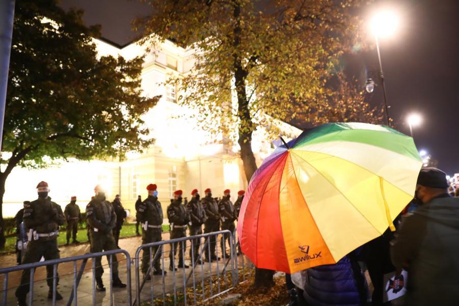 Żandarmeria Wojskowa wspiera Policję w zabezpieczeniu protestu pod hasłem \